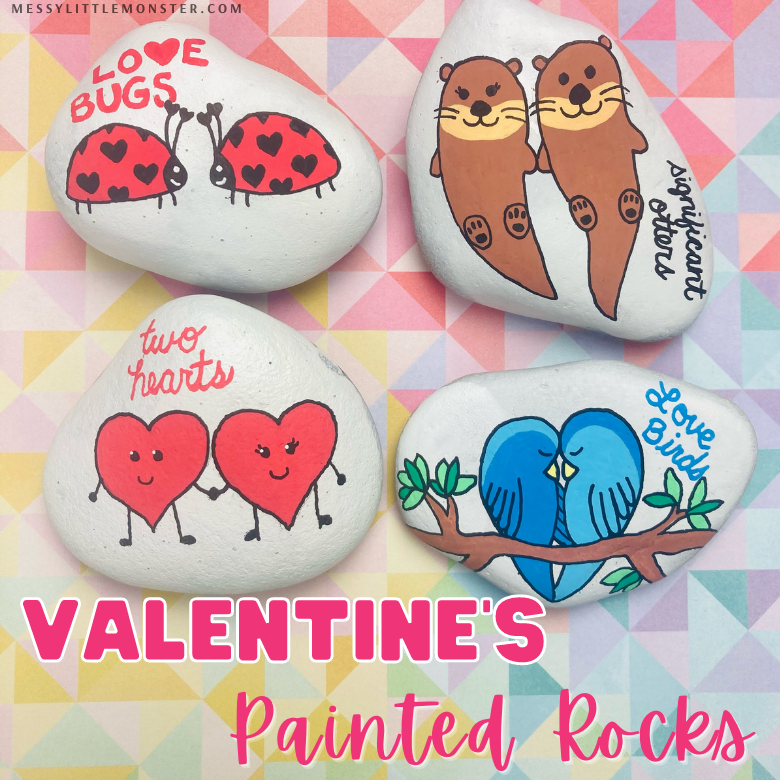 Valentine's rock painting ideas