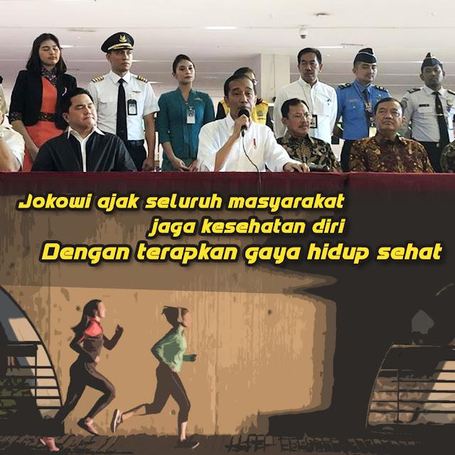 Jokowi Ajak Masyarakat Untuk Tetap Menjaga Kesehatan