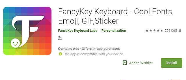 Download Aplikasi FancyKey - Keyboard
