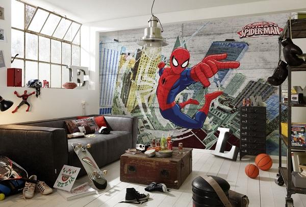 Spiderman Wall Mural Kids Room