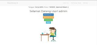 Halaman Dashboard Aplikasi Web Buat Surat Izin Tidak Masuk Sekolah