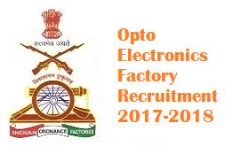 Opto Electronics Factory Recruitment