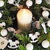 Wieniec na stół wigilijny i świąteczne życzenia