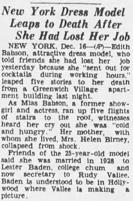 Edith Babson Suicide