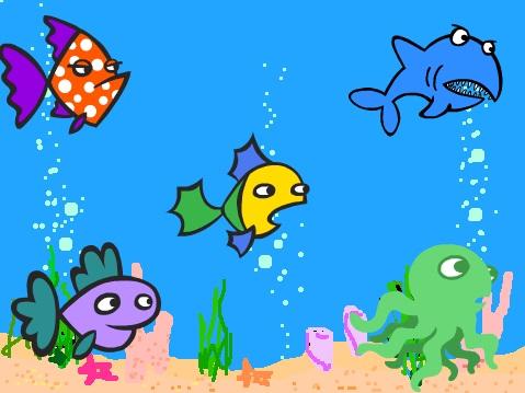 scratch akvaryum balık ekranı