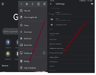 Settings - Privacy and Security