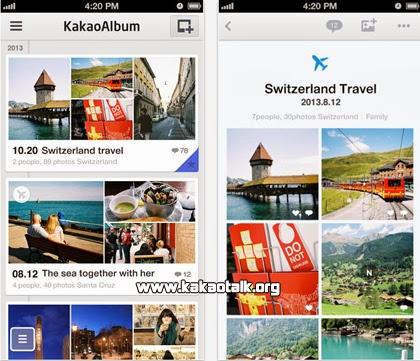 Ordena tus fotos usando KakaoAlbum en tu iPhone