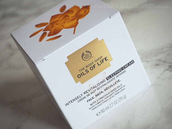 The Body Shop Oils Of Life Sleeping Cream.
