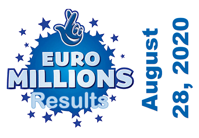 EuroMillions Results for Friday, August 28, 2020