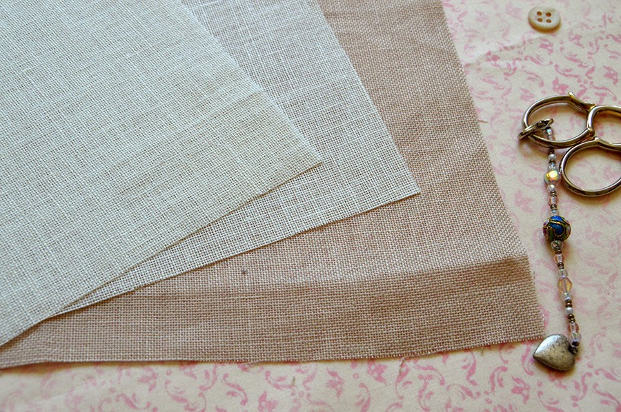 how to hand dyed cross stitch fabric