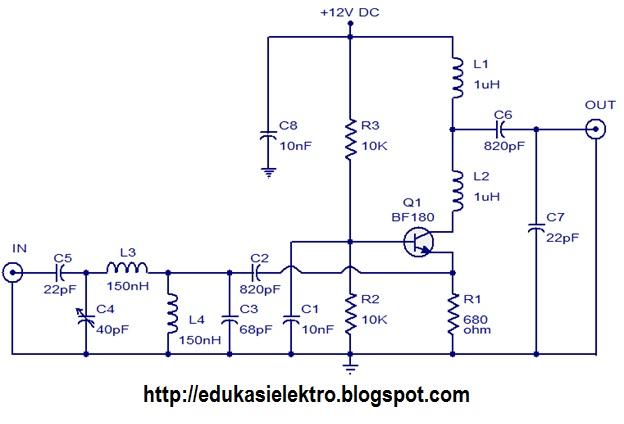 Rangkaian Booster Antena Tv Sederhana Edukasi Elektronika