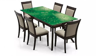 glass top dining table set 6 chairs