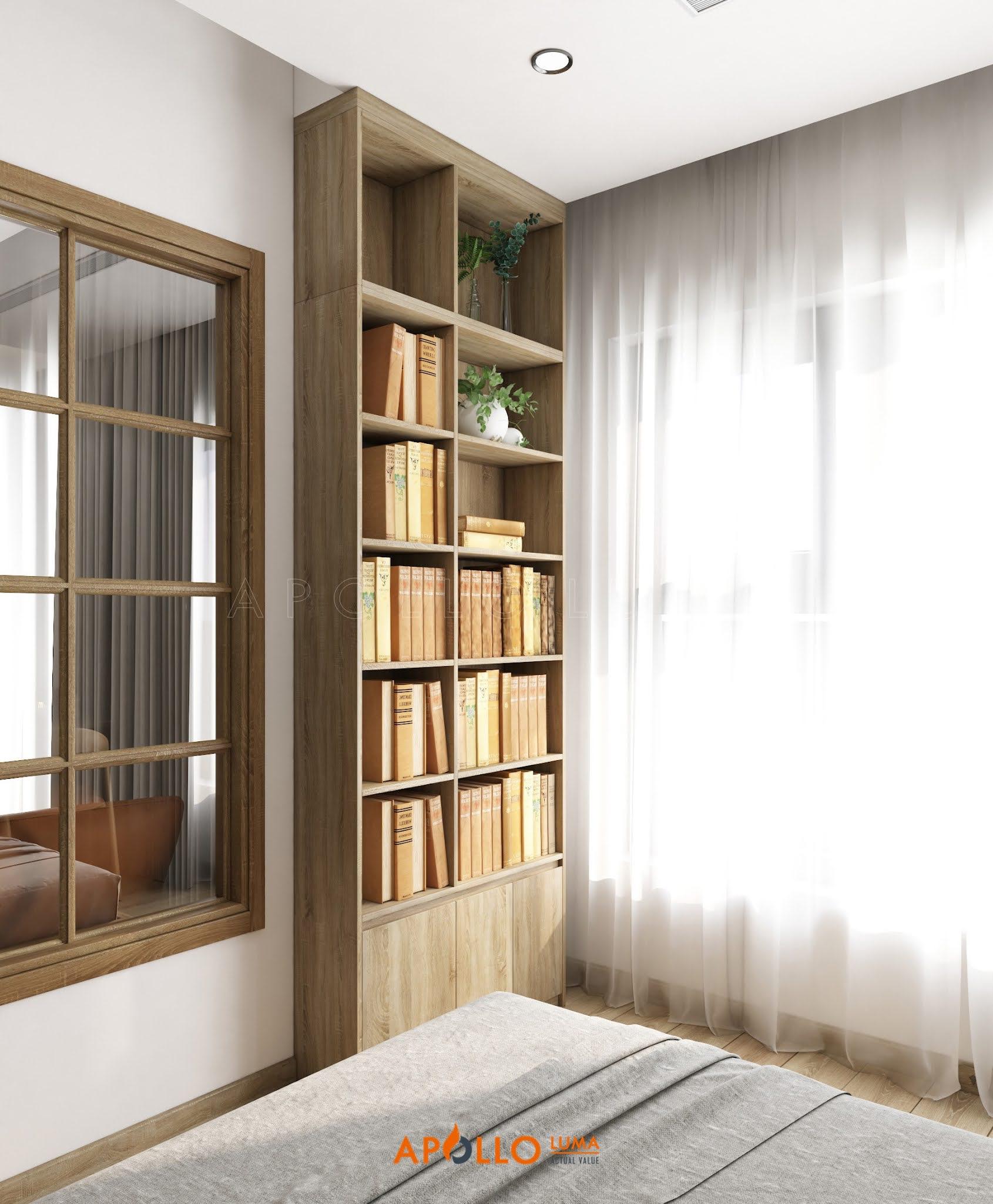 Thiết kế nội thất căn 2 phòng ngủ Vinhomes Smart City Tây Mỗ