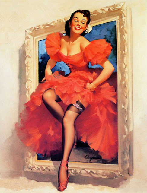 Vintage Paintings of Beautiful Woman's 14