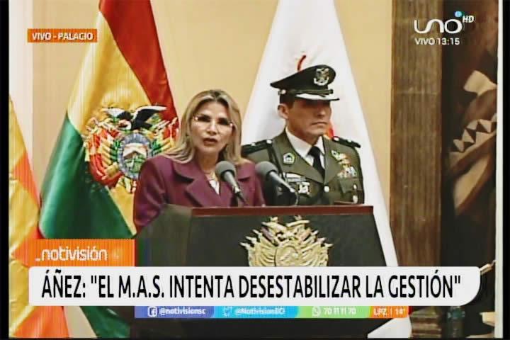 Áñez no permitirá caos y confrontación. Designa nuevamente a López como ministro de Defensa