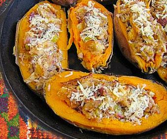 Fish Stuffed Sweet Potatoes Recipe