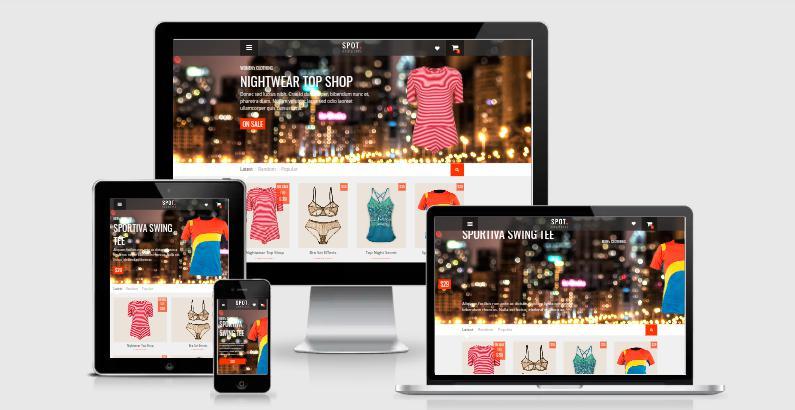 SpotCommerce Responsive Blogger Template