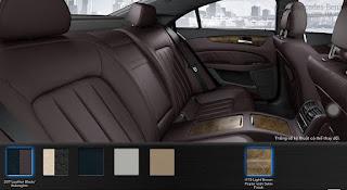 Nội thất Mercedes CLS 350 2015 màu Đen Leather/Aubergine 207