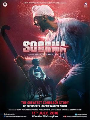 Soorma 2018 Hindi 720p BluRay 950MB