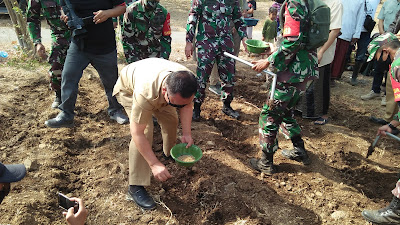 Kodim 0823 Situbondo Bersama Masyarakat Laksanakan Serbuan Teritorial Tanam Sorghum