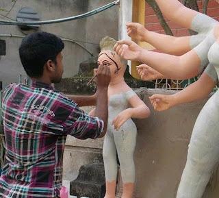 Chokkhu Dan Mahalaya Durga Puja