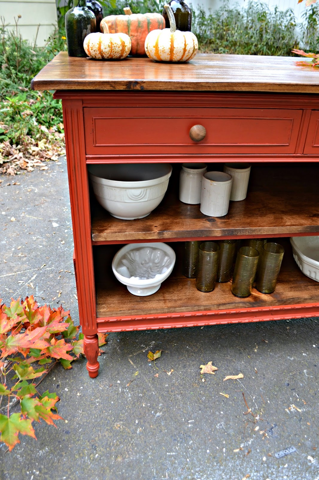 Turn A Dresser Into A Kitchen Island: Heir And Space: An Antique Dresser Turned Kitchen Island