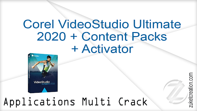 Corel VideoStudio Ultimate 2020 + Content Packs + Activator