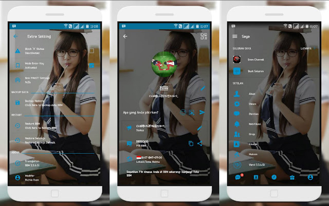 BBM Mod Transparent v3.3.6.51 Update Terbaru For Android