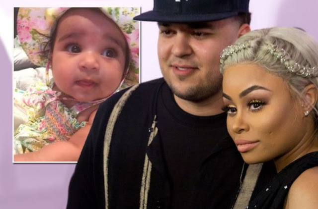 PHOTO FROM  Blac Chyna and Rob Kardashian AS Baby Dream has celebrated her first Easter