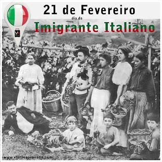 Resultado de imagem para Dia Nacional do do Imigrante italiano