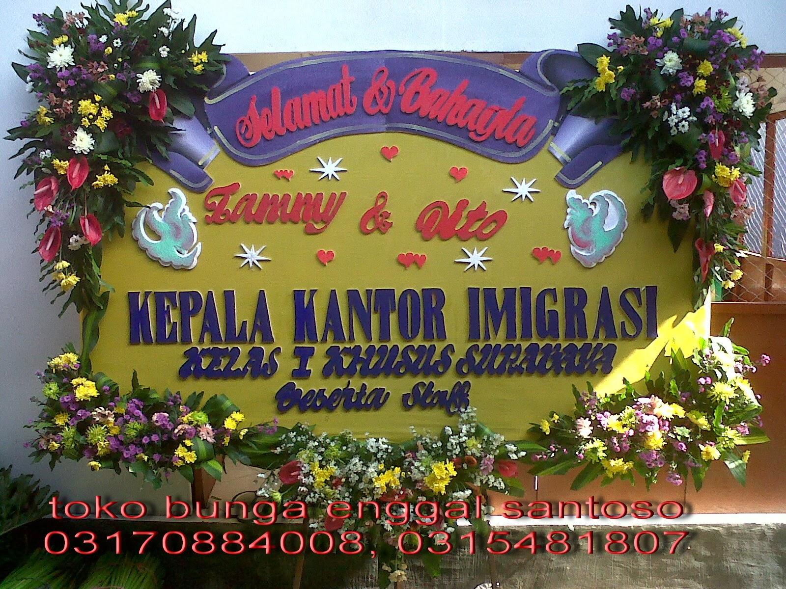 bunga papan ucapan bahagia toko bunga surabaya florist