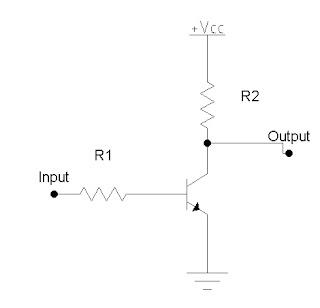 rangkaian Transistor Gerbang NOT