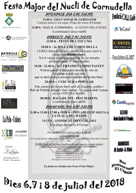 Esguard de Dona - Cartell Festa Major Cornudella 2018