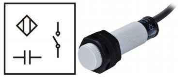 Simbol dan bentuk fisik Sensor Kapasitif