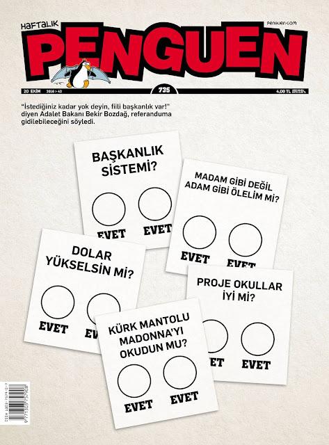 Penguen Dergisi | 20 Ekim 2016 Kapak Karikatürü
