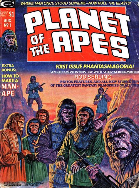 Planet of the Apes v1 #1, 1974 marvel bronze age magazine cover