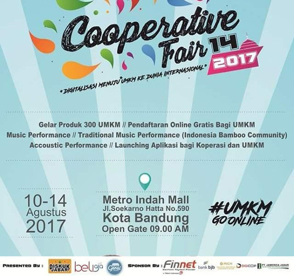 Cooperative Fair 14 2017 di Metro Indah Mall Bandung Timur