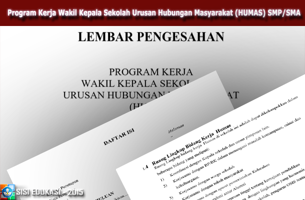 Program Kerja Wakil Kepala Sekolah Urusan Hubungan Masyarakat (HUMAS) SMP/SMA