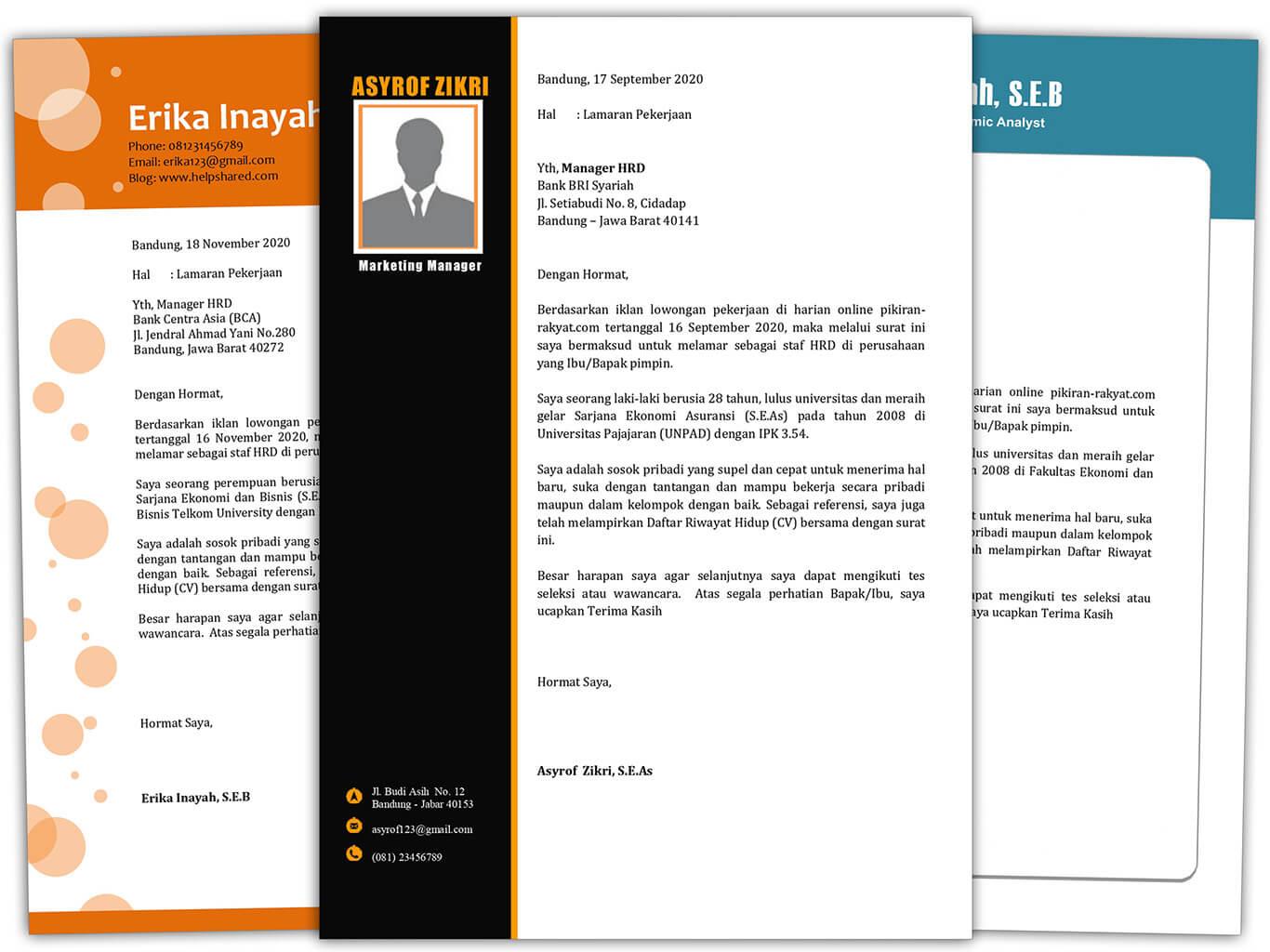 Demikian surat lamaran ini saya sampaikan, terima kasih atas perhatian dan perkenan. Surat Lamaran Kerja Yang Benar Pdf - suratlamaran.com