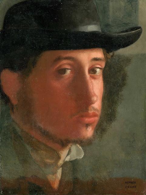 Эдгар Дега - Автопортрет в мягкой шляпе (1858)