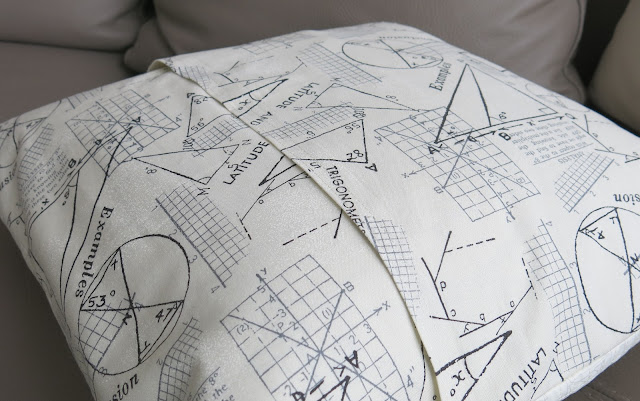 Luna Lovequilts - Envelope backing cushion / pillow - Geometry print from the Modern Background Paper collection by Zen chic for Moda