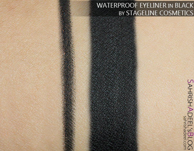 Waterproof Eyeliner in Black by Stageline Cosmetics - Review & Swatch