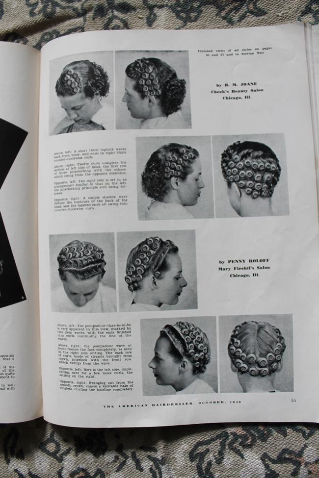 1940 vintage pin curl setting pattern hair tutorial