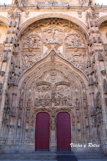 Portada principal de la catedral nueva de Salamanca
