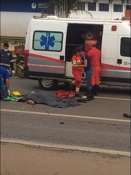 Acidente com vítima fatal na BR-060 no perímetro urbano de Anápolis