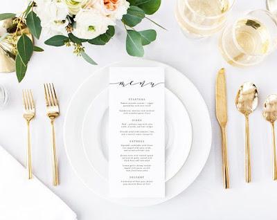 menù ricevimento matrimonio