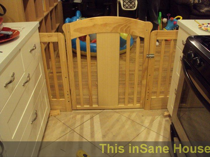 Finished View From Kitchen Notice The Latch Is Unreachable By A Child Though It Difficult Carrying One And Trying To Open