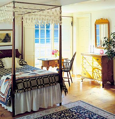 Eye For Design Decorating Colonial Primitive Bedrooms