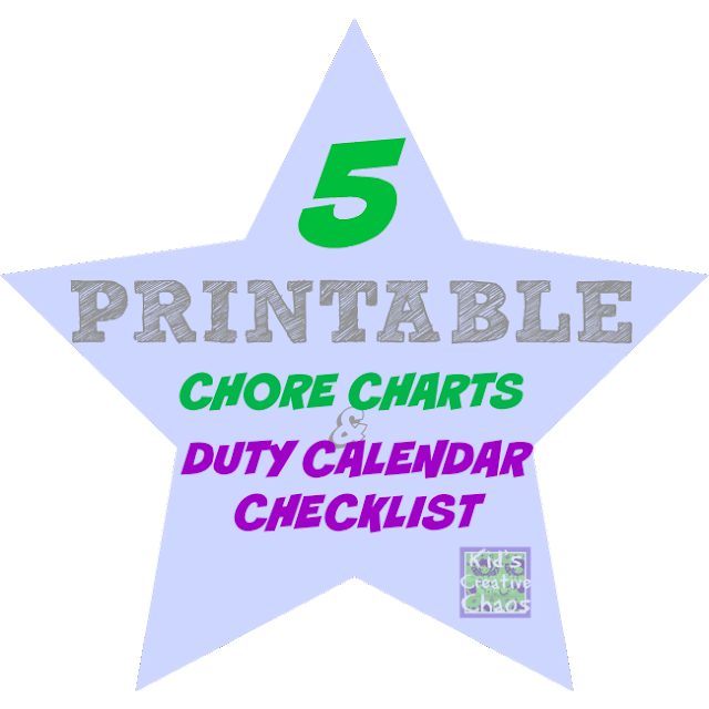 Chore Chart Duty Calendar for Kids by Age