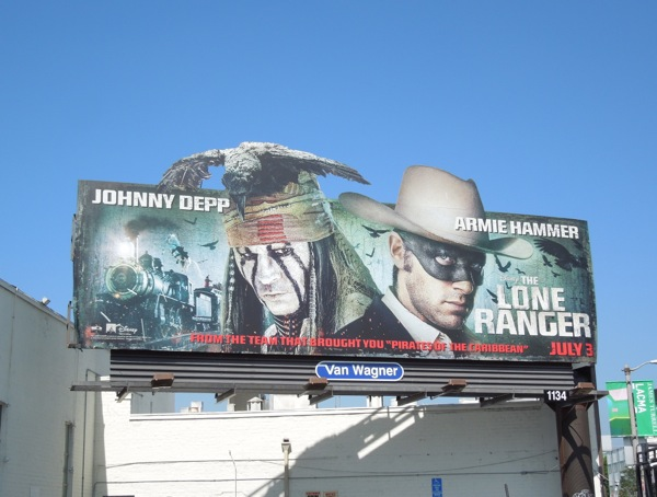 Lone Ranger extension movie billboard